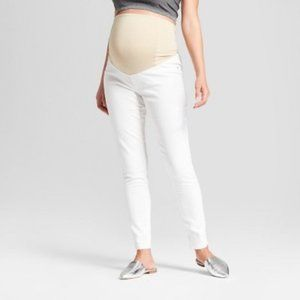 Ingrid & Isabel Crossover Panel White Jeggings NWT